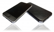 Textured Black Leather Skin For iPhone 5c Decal Cover Wrap Protector NOT CASE