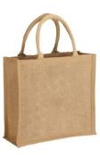 Mini Medium Natural Jute Hessian Bag (30 x 30 x 12cm) JP01N