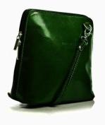 Big Handbag Shop Womens Mini Genuine Italian Leather Cross-Body Handbag