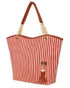 niceeshop(TM) Fashion Stripe Single Shoulder Canvas Bag Women Handbag