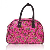 New Oilcloth Polka Dot/Flower/Owl Print Holdall Weekend Travel Bag