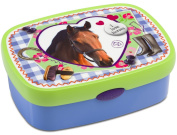 """Rosti Mepal Campus Enfant 107670065308 Lunch Box Large with """"I Love Horses"""" Theme"""