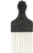Afro Comb / Pick with Metal Forks and Plastic Handle