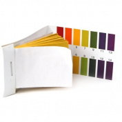 160 pH Indicator Test Strips 1-14 Paper Litmus Tester Urine & Saliva--- Great for testing many usual everyday substances, including moisturised soap, lemon juice, milk, liquid detergent, moisturised soil, saliva, urine, sweat...etc