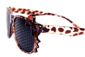DealMagik New Leopard Frame Fashion Pinhole Corrective Eye Fatigue Relief Glasses