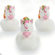 Pack of 4 - Unicorn Rubber Duckies