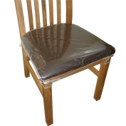 4 x Clear Plastic Dining Chair Seat Cushion Covers Protectors.