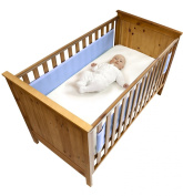 Safe Dreams 2 Sided Cot Wrap with 100% cotton surface