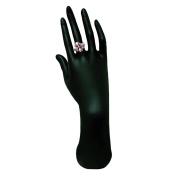 Elegant Hand Up Ring Display, Black