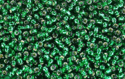 11/0 Round TOHO Japanese Glass Seed Beads #36-Silver-Lined Green Emerald 15g