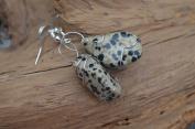 Dalmatian Stone Dangling Earrings