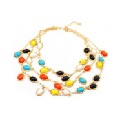 Cytprimedesign® Multilayers colourful Resin Pendant Necklace