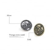 Cytprimedesign® Acrylic Alloy Button Royal Crown Pattern Earrings