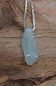 Wire Wrapped Sea Foam Sea Glass Necklace