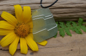Light Olive Green Sea Glass Necklace