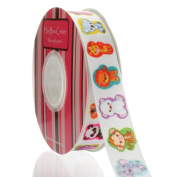 2.2cm Zoo Animal Stickers Grosgrain Ribbon
