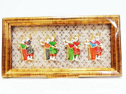 Premium Hand-made Thai's Traditional Dance Characters in Picture Frame