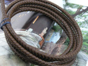 2 Yards 6.0mm Dark Brown Colour Soft Braided Bolo Real Leather Cord