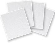 15cm Clear Glass Squares 4 Pack - 90 COE