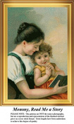Mommy, Read Me a Story, Vintage Counted Cross Stitch Pattern