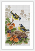 Cross stitch - Luca-S - Birds in Nest