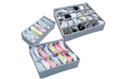 Bamboo Charcoal Fibre Storage Boxes Home Storage for Bra, neckties,Underwear,sock 3pcs/1 Set