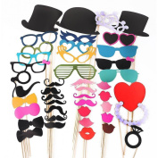 Colourful Photo Booth Props On A Stick Moustache Party Wedding Christmas Birthday Favour