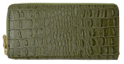 New Fashion Zip Around Croco Texture Ladies Wallet