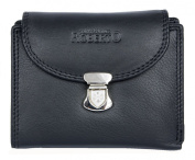 Black Genuine Leather Wallet Roberto