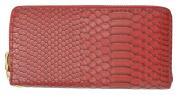 New Fashion Zip Around Snake Texture Ladies Wallet