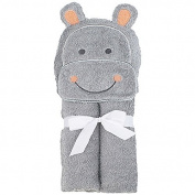 Just Bath Woven Puppet Towel - Hippo