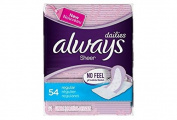 Always No Feel Protection Liners - 54 Regular