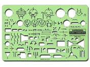 -Chartpak Electrical Drafting and Design Templates electrical/electronic standard symbols each