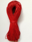 Red Cotton Waxed Cord 1mm 100yd Bundle