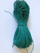 Teal Cotton Waxed Cord 1mm 100yd Bundle