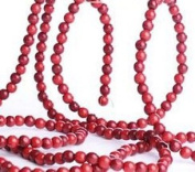 Cranberry Look Burgundy & Red Wood Bead Garland for Christmas Tree and Holiday Decorations - Create an Old Fashion Looking Christmas Tree 2.7m