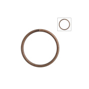 About 120pcs Zacoo Open Jump Rings Shape Round Colour Antique Copper 14x14x1.2 Outside Diameter 14mm