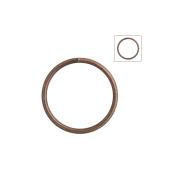 About 120pcs Zacoo Open Jump Rings Shape Round Colour Antique Copper 14x14x1.2 Outside Diameter 14mm