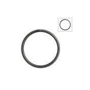 About 120pcs Zacoo Open Jump Rings Shape Round Colour Gun metal Black 14x14x1.2 Outside Diameter 14mm