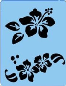 StencilEyes - QuickEZ/Flower Effect Design Stencil #14