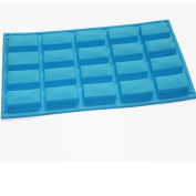 20-cavity Rectangular Mini Soap Chocolate Baking Candy Mould Silicone Mould