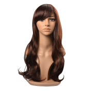 Kamo Long Dark Brown Ladies' Sexy Curly Wave Wig Full Wigs