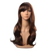 Kamo Long Dark Brown Ladies' Sexy Curly Wave Wig Full Wigs