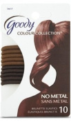 Goody Colour Collection Elastics, Brunette, 4 mm, 10 Count