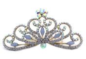 Halloween Princess Wedding Flower Girl Clear Mini Tiara Hair Comb