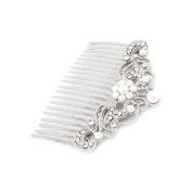 Bridal Wedding Jewellery Crystal Rhinestone Pearl Beautiful Vintage Hair Comb Pin
