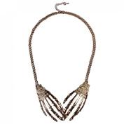 Golden Silvery Fashion New Punk Rock Hand Bone Pendant Choker Chain Necklace