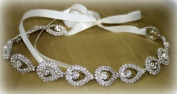 Bridal Headband, Wedding Belt Sash or Headwrap