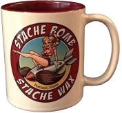Stache Bomb Stache Wax Shaving Mug