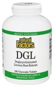 Natural Factors - DGL Deglycyrrhizinated Licorice 400 mg. - 180 Chewable Tablets
